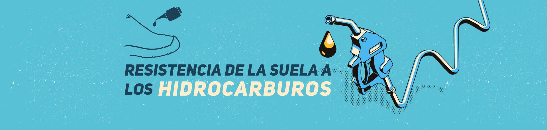 resistencia de la suela a los hidrocarburos