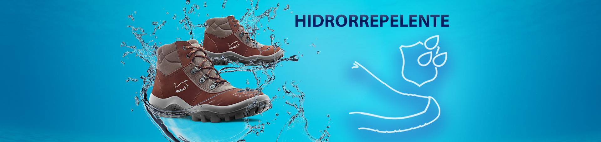 calzado de seguridad hidrorrepelente