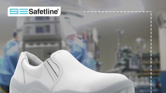 Calzado para profesionales de la salud.